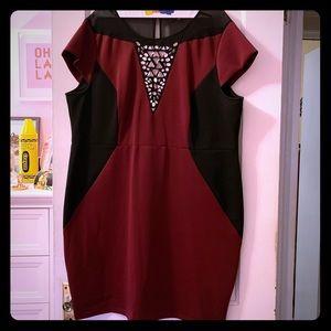 Dorothy Perkins Neoprene Embellished Dress